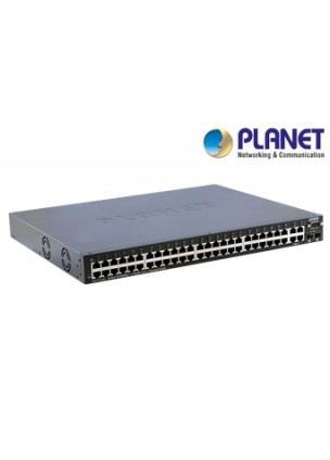 WGS3-5220 - 48-Port 10/100Mbps + 4-Port Gigabit TP / 2-Port mini-GBIC Layer 3+ Managed Ethernet Switch